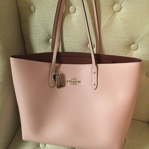 Coach pink tote